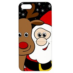 Xmas selfie Apple iPhone 5 Hardshell Case with Stand