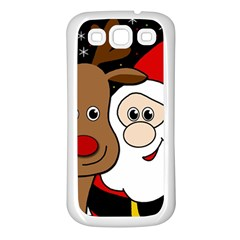 Xmas selfie Samsung Galaxy S3 Back Case (White)