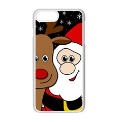 Xmas Selfie Apple Iphone 7 Plus White Seamless Case