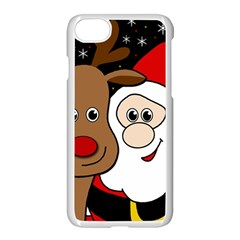 Xmas Selfie Apple Iphone 7 Seamless Case (white)