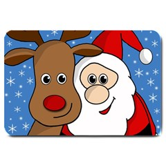 Christmas selfie Large Doormat
