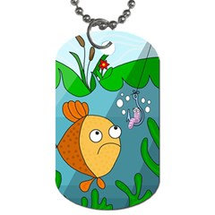 Fish and worm Dog Tag (One Side)