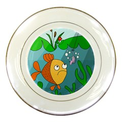 Fish and worm Porcelain Plates