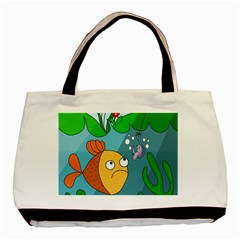 Fish and worm Basic Tote Bag