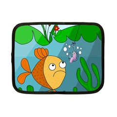 Fish and worm Netbook Case (Small)