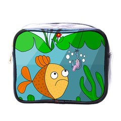 Fish and worm Mini Toiletries Bags