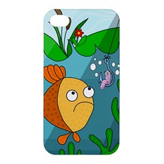 Fish and worm Apple iPhone 4/4S Hardshell Case