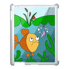 Fish and worm Apple iPad 3/4 Case (White)