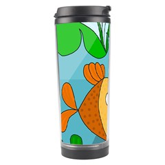 Fish and worm Travel Tumbler