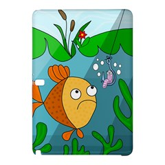 Fish and worm Samsung Galaxy Tab Pro 12.2 Hardshell Case