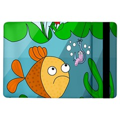 Fish and worm iPad Air Flip