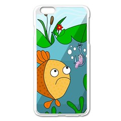 Fish and worm Apple iPhone 6 Plus/6S Plus Enamel White Case