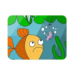 Fish and worm Double Sided Flano Blanket (Mini)