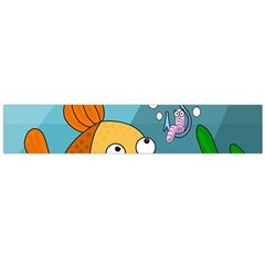 Fish and worm Flano Scarf (Large)