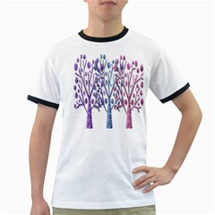 Magical pastel trees Ringer T-Shirts