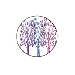 Magical pastel trees Hat Clip Ball Marker (4 pack)