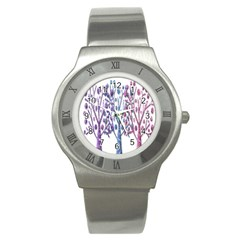 Magical pastel trees Stainless Steel Watch