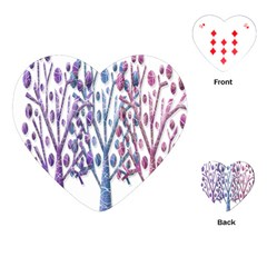 Magical pastel trees Playing Cards (Heart)