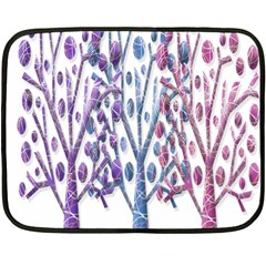 Magical pastel trees Fleece Blanket (Mini)