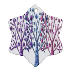 Magical pastel trees Ornament (Snowflake)