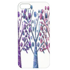 Magical pastel trees Apple iPhone 5 Hardshell Case with Stand