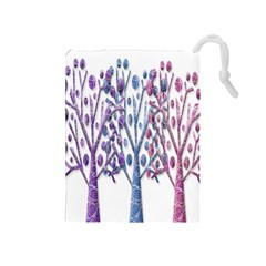Magical pastel trees Drawstring Pouches (Medium)