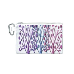Magical pastel trees Canvas Cosmetic Bag (S)