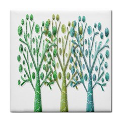 Magical green trees Face Towel