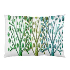 Magical green trees Pillow Case