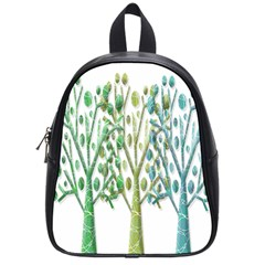Magical green trees School Bags (Small)
