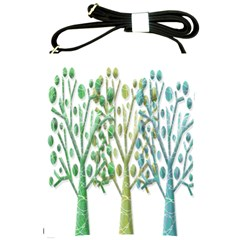 Magical green trees Shoulder Sling Bags