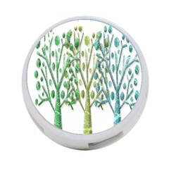 Magical green trees 4-Port USB Hub (Two Sides)