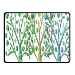 Magical green trees Fleece Blanket (Small)