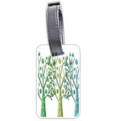 Magical green trees Luggage Tags (One Side)