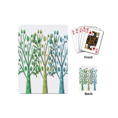 Magical green trees Playing Cards (Mini)