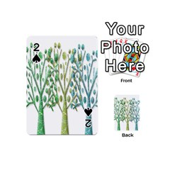 Magical green trees Playing Cards 54 (Mini)