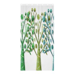 Magical green trees Shower Curtain 36  x 72  (Stall)
