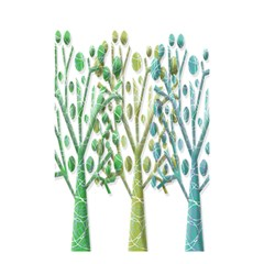 Magical green trees Shower Curtain 48  x 72  (Small)