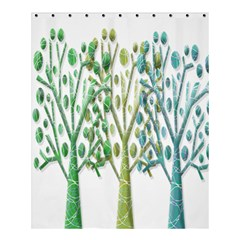 Magical green trees Shower Curtain 60  x 72  (Medium)