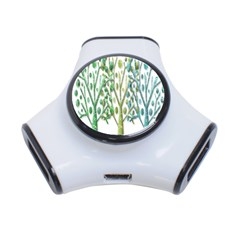 Magical green trees 3-Port USB Hub