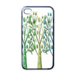 Magical green trees Apple iPhone 4 Case (Black)
