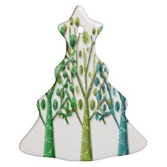 Magical green trees Christmas Tree Ornament (2 Sides)