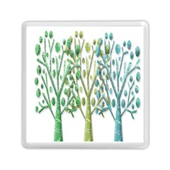Magical green trees Memory Card Reader (Square)