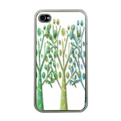 Magical green trees Apple iPhone 4 Case (Clear)
