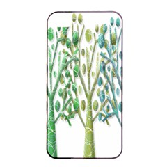 Magical green trees Apple iPhone 4/4s Seamless Case (Black)