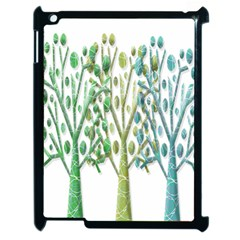Magical green trees Apple iPad 2 Case (Black)