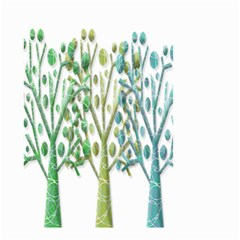 Magical green trees Small Garden Flag (Two Sides)