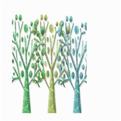 Magical green trees Large Garden Flag (Two Sides)