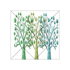 Magical green trees Acrylic Tangram Puzzle (4  x 4 )