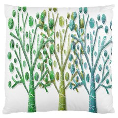 Magical green trees Large Cushion Case (One Side)